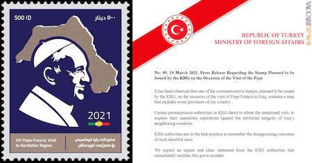 Stamp Pope Kurdistan